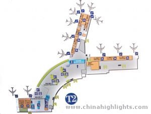 Kunming Airport map