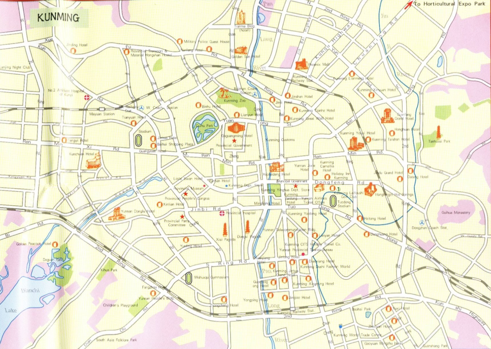 Kunming Street Map