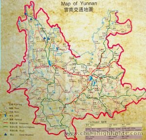 Yunnan Transportation Map