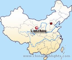 Lanzhou location map
