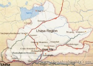 Lhasa Area Map