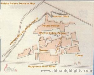 Lhasa Potala Palace Map