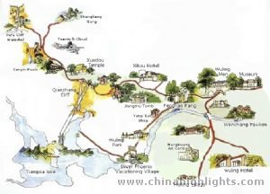 Ningbo Attraction map
