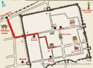 Pingyao Tourist Map