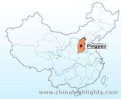 Pingyao Location in China