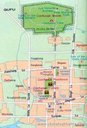 Qufu City Map