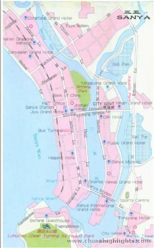 Sanya City Map