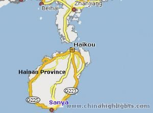 Sanya Location in Hainan