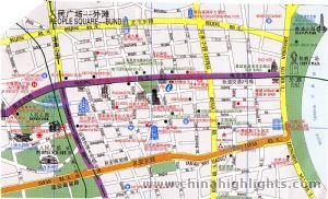 Map of Renmin Square
