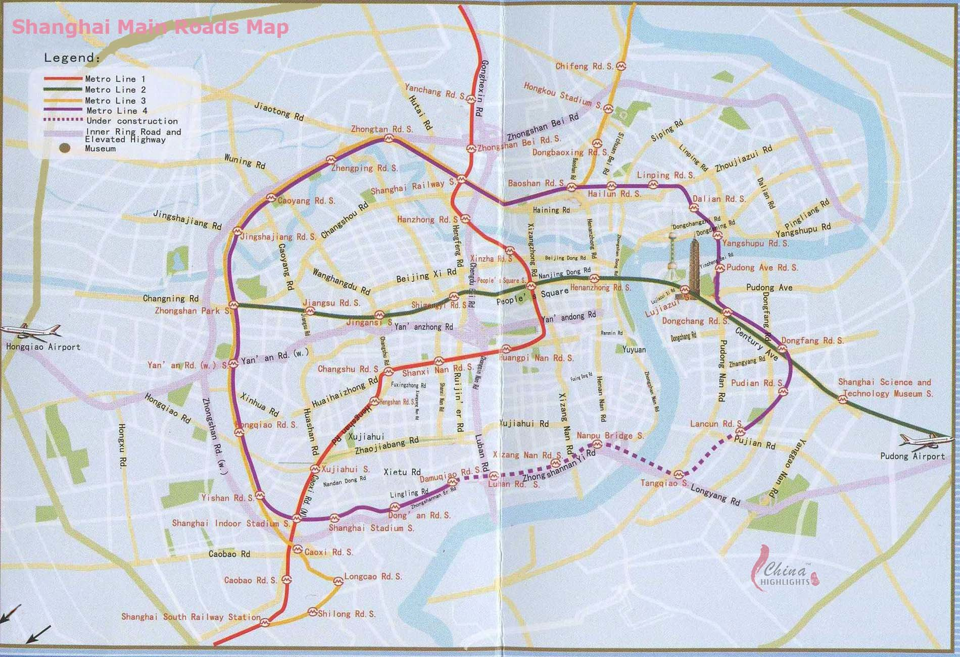 Shangai Main Road Map