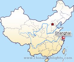 Shanghai in China Map