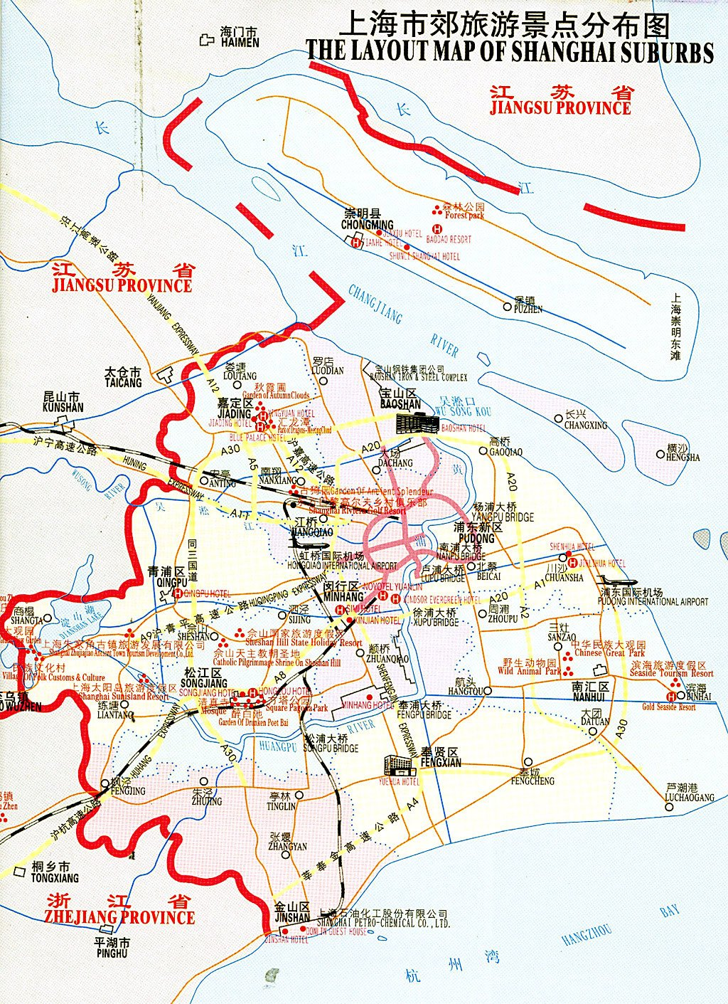 Layout Map of Shanghai Suburbs