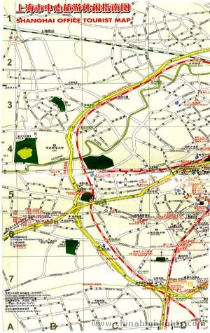 Transportation Map of Shanghai City Center