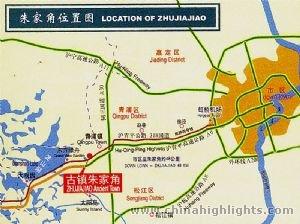 Shanghai Zhujiajiao Map