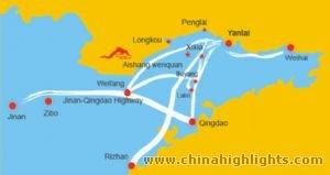 Yantai Area Map