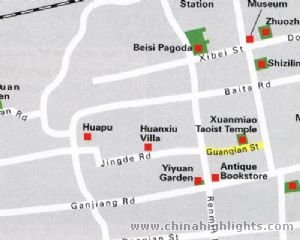 Suzhou Area Map