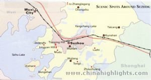 Suzhou Tourist Map