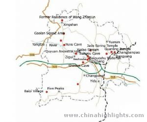 Yichang Tourist Map