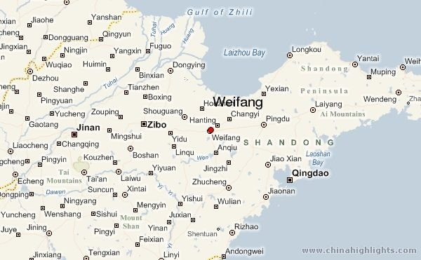 Weifang Area Map