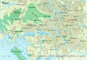 Wuxi City Map