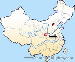 Xian map xian city map xian location in china gumiabroncs Image collections