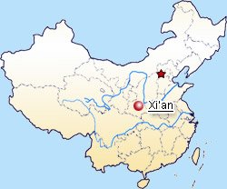 Xian Location in China