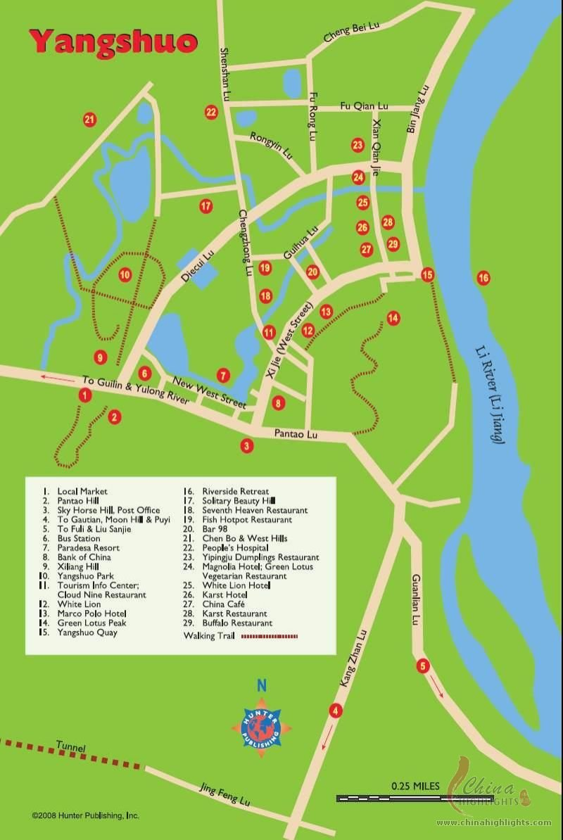 Yangshuo Map