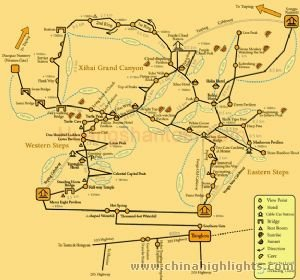 Huangshan Hiking Map