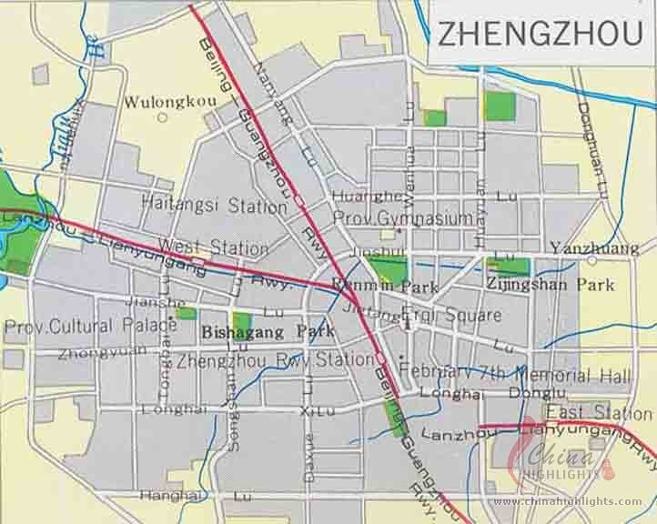 Zhenzhou City Map
