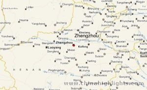 Zhengzhou Area Map