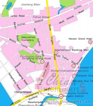 Zhuhai City Map